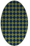 rug #234574 | oval retro rug