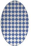 rug #234577 | oval blue check rug