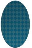 rug #234591 | oval check rug