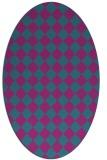 rug #234602 | oval check rug