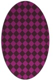rug #234603 | oval check rug