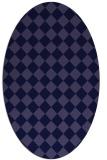 rug #234621 | oval blue-violet check rug