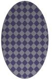 rug #234625 | oval blue-violet check rug