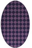 rug #234633 | oval purple check rug