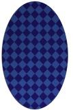 rug #234641 | oval blue-violet check rug