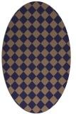 rug #234645 | oval beige check rug