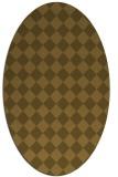 rug #234655   oval check rug
