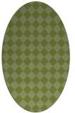 rug #234663 | oval check rug