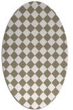 rug #234677 | oval white check rug