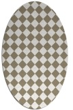 rug #234677 | oval mid-brown retro rug