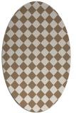 rug #234689 | oval beige check rug
