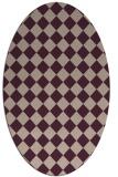 rug #234693   oval pink check rug