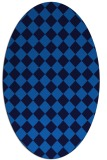 rug #234705 | oval blue check rug