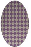 rug #234717 | oval purple check rug