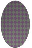 rug #234719   oval check rug
