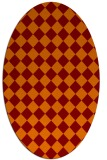 rug #234725 | oval red-orange check rug