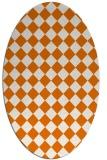 rug #234729 | oval orange check rug