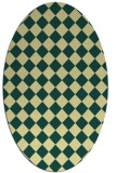rug #234741 | oval yellow check rug