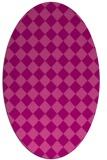 rug #234746 | oval check rug