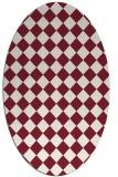rug #234749   oval pink check rug