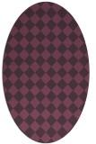 rug #234761 | oval purple check rug