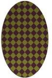 rug #234765 | oval purple check rug