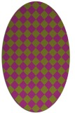 rug #234767 | oval retro rug