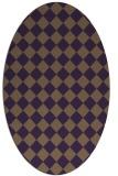 rug #234769 | oval purple check rug