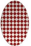 rug #234786   oval check rug