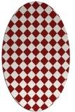 rug #234788   oval check rug