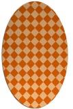 rug #234797 | oval red-orange check rug