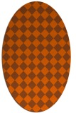 rug #234801 | oval red-orange check rug