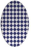 rug #234817 | oval white check rug