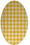 rug #234825 | oval yellow check rug