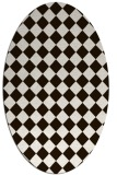 rug #234833 | oval brown retro rug