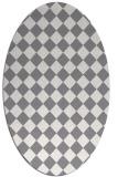rug #234839 | oval check rug