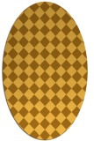 rug #234841 | oval yellow check rug