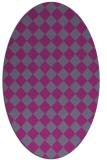 rug #234849 | oval check rug