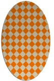 rug #234853 | oval orange check rug