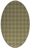 rug #234861 | oval light-green check rug
