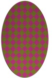 rug #234865 | oval light-green check rug