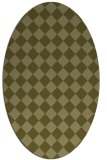 rug #234869 | oval light-green check rug
