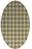 rug #234871 | oval check rug