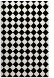 rug #234893 |  black check rug