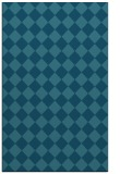 rug #234937 |  blue-green retro rug