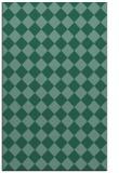 rug #234945    blue-green check rug