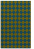 rug #234949 |  blue-green check rug