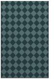 rug #234961 |  blue-green check rug