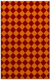 rug #235077 |  orange check rug
