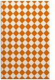 rug #235081 |  orange check rug